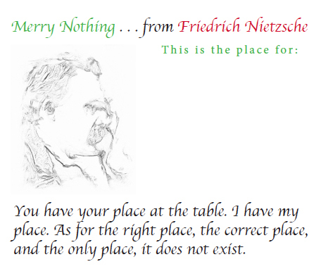 Nietzsche Place Card photo